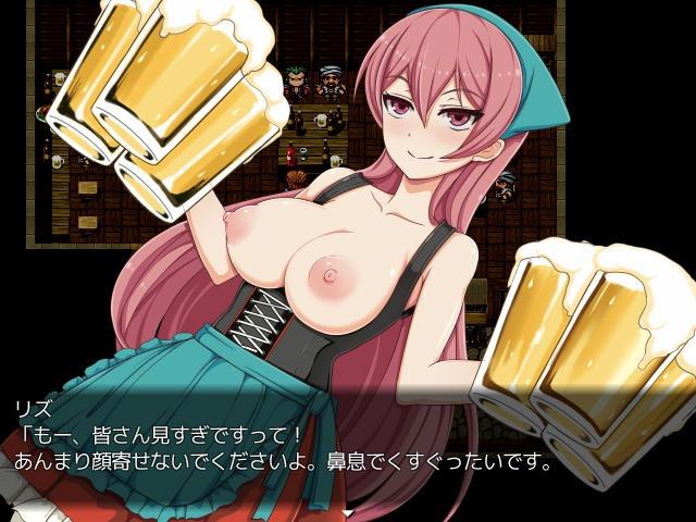 酒場で酔わされておっぱい丸出し